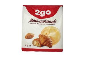 Мини-круассаны с ванильной начинкой 2go м/у 180г