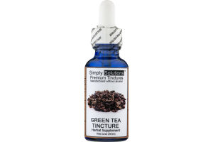 Simply Solutions Premium Tinctures Herbal Supplement Green Tea