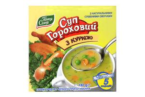 Суп гороховий з куркою Тётя Соня м/у 180г