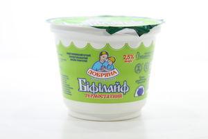 Биопродукт кисломолочный 2.5% термостатный Бифилайф Добряна ст 230г
