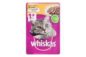 Корм для дорослих котів з куркою в желе Whiskas д/п 100г
