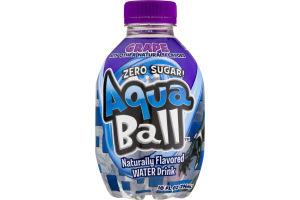 AquaBall Flavored Water Drink Zero Sugar Grape
