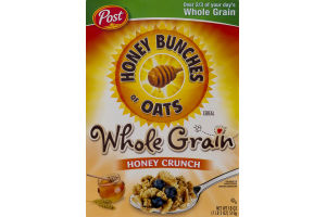 Post Honey Bunches Of Oats Cereal Honey Crunch