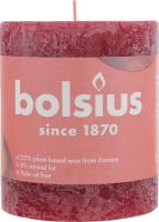 Свеча Bolsius Руcтик бархатный красный 80/68мм