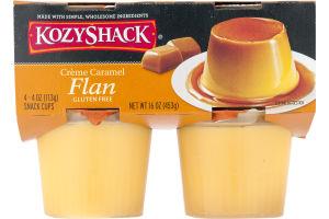 Kozy Shack Flan Creme Caramel - 4 CT