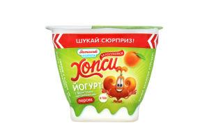 Йогурт 1.5% Персик Хопси Яготинське для дiтей ст 115г