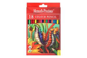 Н-р карандашей цветных Memoris Precious А21 18шт
