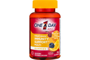 One A Day Adult VitaCraves Immunity Support Multi Gummies - 70 CT