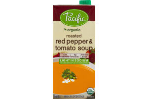 Pacific Organic Roasted Red Pepper & Tomato Soup Light In Sodium