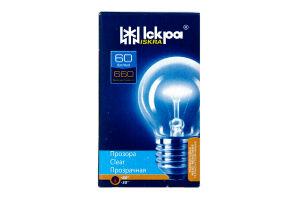 Лампа Искра PS45 60Вт Е27 шар прозр