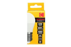 Лампа KODAK G45 E27 6W 220V Тепл.Біл. 3000K Мат. н/Дим.