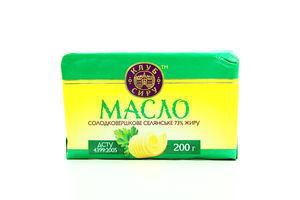 Масло 73% сладкосливочное Крестьянское Клуб сиру м/у 200г