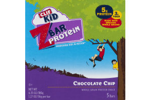 Clif Kid Z Bar Protein Chocolate Chip Bars - 5 CT
