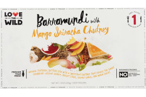 Love the Wild Barramundi with Mango Sriracha Chutney