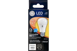 GE LED Soft White Dimmable Lightbulb 480 Lumens
