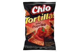 Чіпси кукурудзяні зі смаком дикої паприки Tortillas Chio м/у 125г