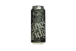 Напій слабоалкогольний 0.5л 7% King's Bridge Gin Tonic з/б