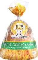 Хліб на молочній сироватці половинка в нарізці Орільський Рома м/у 0.3кг