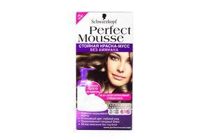 Краска-мусс для волос Ледяной капучино №616 Perfect Mousse