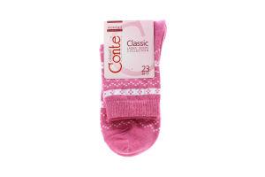 CONTE Шкарпетки жіночі Classic 15С-15СП р.23 062 рожевий