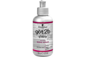 Schwarzkopf Got2b Glossy 4 Frizzy Hair Anti-Frizz Shine Serum