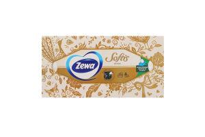 Серветки паперові косметичні Softis Zewa 80шт