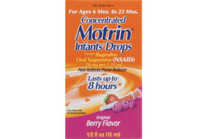 Motrin Concentrated Infants' Drops For Ages 6 Mos. to 23 Mos. Original Berry Flavor