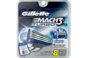 Gillette Mach3 Turbo Cartridges - 8 CT
