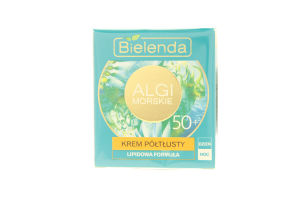 Крем для лица питательный Морские водоросли 50+ Bielenda 50мл