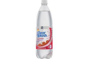 Clear Splash Sparkling Water Beverage Cranberry