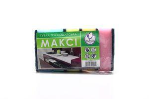 Набор губок кухонных хозяйственных Макси Deluxe 5шт