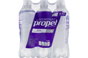 Propel Water Beverage with Electrolytes & Vitamins Grape - 6 CT