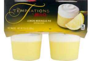Temptations by Jell-O Pie Snacks Lemon-Meringue Pie - 4 CT