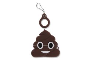Чохол для портативних пристроїв AirPods коричневий Turd Smile Case 1шт