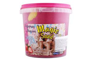 Набір для творчості рожевого кольору з ароматом полуниці для дітей від 3років №372-11 Magic Sand Strateg 1шт