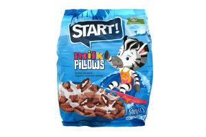 Завтраки сухие с молочной начинкой Подушечки Start! м/у 500г