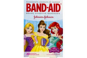 Band-Aid Adhesive Bandages Disney Princess Assorted Sizes - 20 CT