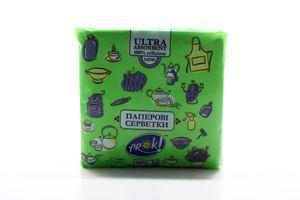 Салфетки бумажные зеленые PrОk 100шт