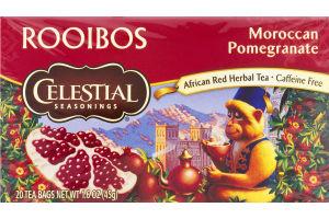 Celestial Seasonings Rooibos African Red Herbal Tea Moroccan Pomegranate - 20 CT