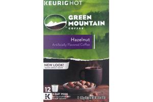 Green Mountain Coffee K-Cup Pods Hazelnut - 12 CT
