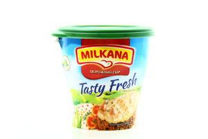 Сыр творожный 59% с лососем Milkana ст 150г