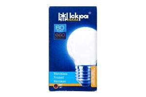 Лампа Искра PS45 60Вт Е27 матовая