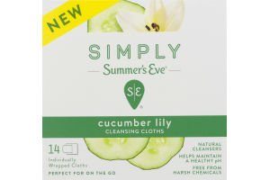 Simply Summer's Eve Cucumber Lily Cleansing Cloths - 14 CT