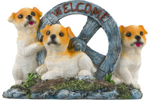 Smart Living Dogs W/ Welcome Sign