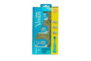 Набір ручка бритвена+касети змінні Venus Gillette 1шт