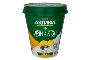 Біфідойогурт Danone Активіа Drink&Go манго та чіа 315г
