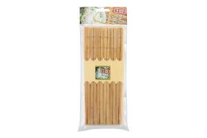 Набор палочки бамбуковые 12 пар в ассортименте