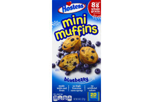 Hostess Mini Muffins Blueberry Pouches - 5 CT