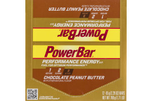PowerBar Performance Energy Bar Chocolate Peanut Butter - 12 CT