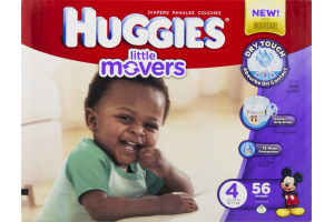 Huggies Diapers Little Movers Disney Baby Size 4 (22-37 lb) - 56 CT